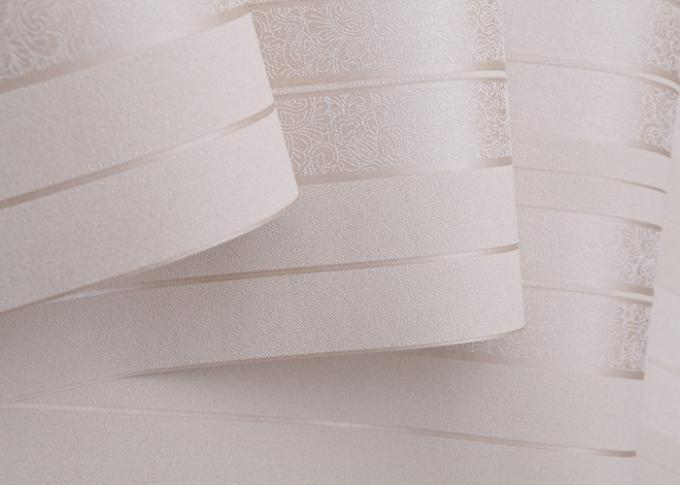 Witte zilveren grijze verwijderbare eigentijdse muurbekledingen zonder schadelijke geur - Eigentijdse muur ...