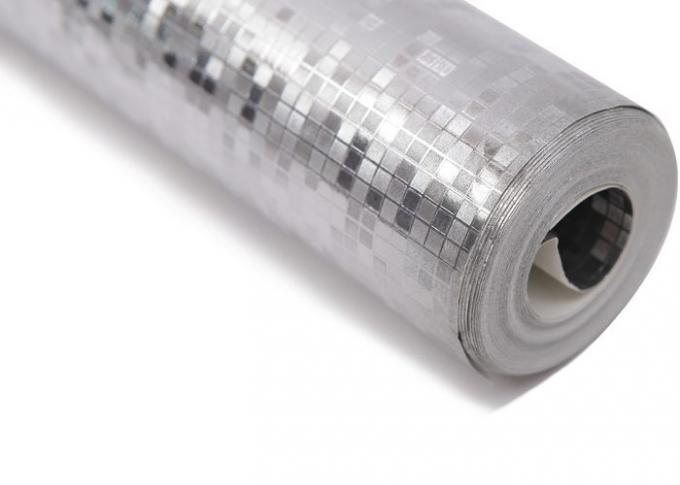 Het moderne verwijderbare zilveren eigentijdse behang van de