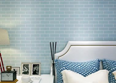 Blauw pre - Gekleefd Zelfklevend Muur het Behandelen niet Geweven/3D Baksteenbehang, Ce-Norm
