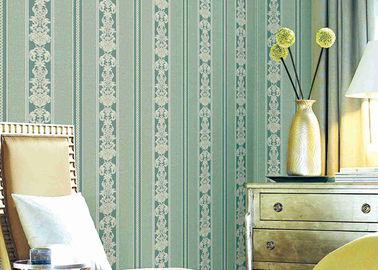Wasbaar Klassiek Gestreept Bloemenbehang, Vinyl Materiële Duurzame Muurbekledingen
