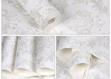 Bloemen Geen Verwijderbare de Muurbekledingen van het Lijm Witte Zelfklevende Behang