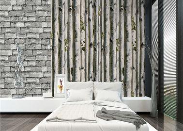 Grijs het huis 3d behang van de berkboom/geen giftige de Hitteisolatie van het Woonkamerbehang