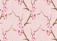 3D Effect Peach Blossom Pattern Chinese Style  Wallpaper For Room Decoration , Eco-Friendly