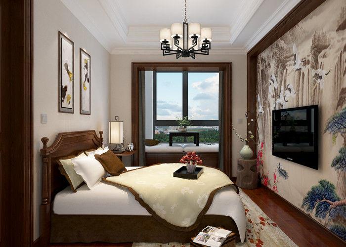 Modern Behang Slaapkamer.Slaapkamer Lichtgrijs Modern Verwijderbaar Behang Huis Die