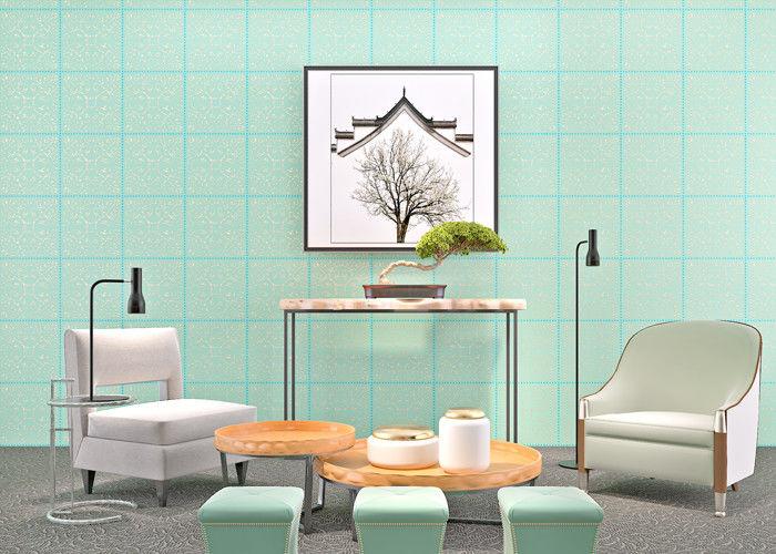 Woonkamer Behang Modern : Cyaan bronzend niet geweven document modern verwijderbaar behang