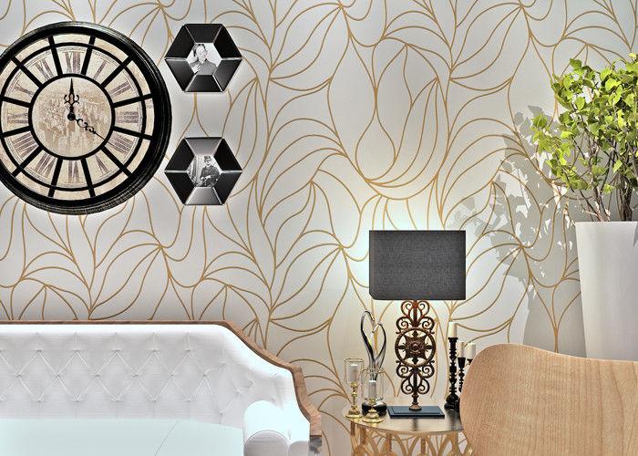 Behang Met Patroon : Wit modern muur het behandelen niet geweven behang geluiddempend