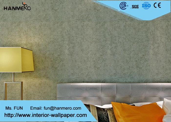 De niet geweven geluiddichte groene bekledingen van de kleuren eigentijdse muur - Eigentijdse muur ...