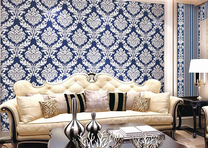 Het moderne behang van de het damast lage prijs van stijlpvc voor